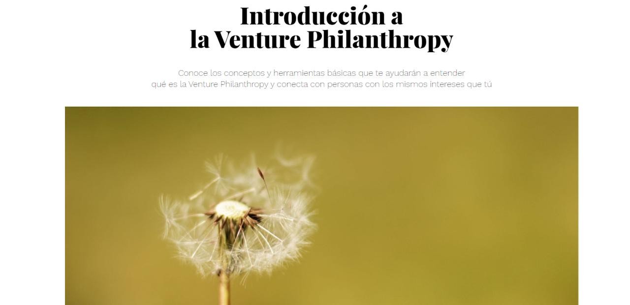 Introducción a la Venture Philanthropy