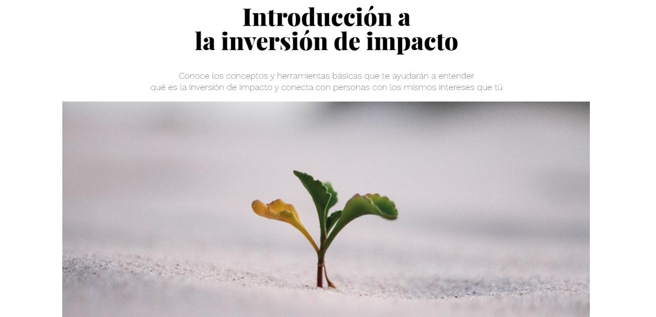 Introducción a la inversión de impacto